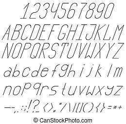 High And Thin Italics