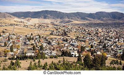 High Angle Overlook Walkerville Butte Montana Downtown ...