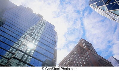 Office blocks, and Apartments. New York, North America, USA...