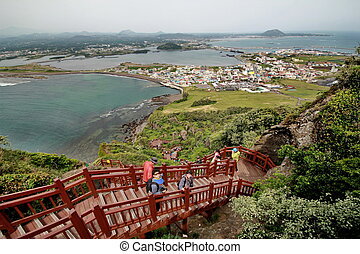 High-angle view from top Volcano - Jeju Island - 5 October...