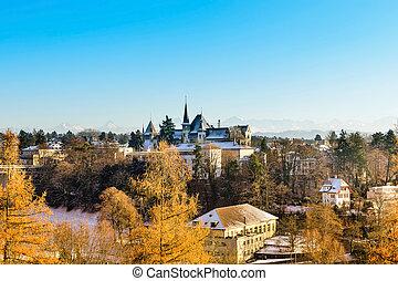 Bern in the winter of Switzerland