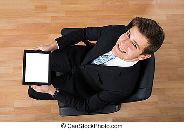 Businessman Working With Digital Tablet