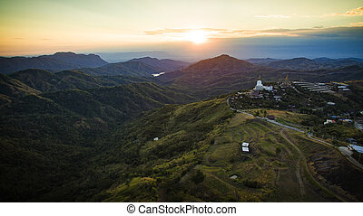 high angle view of khao koh most popular winter traveling...
