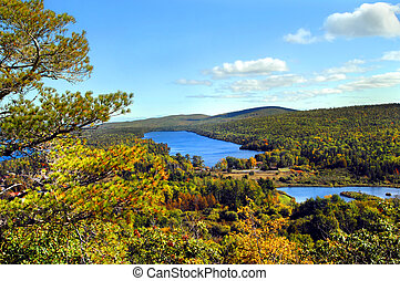 Lake Fanny Hooe - High angle view of Lake Fanny Hooe in ...