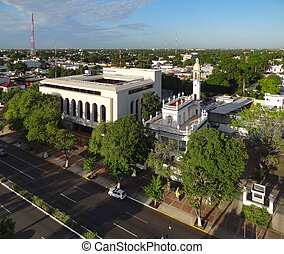 High angle view of Merida in Yucatan, Mexico