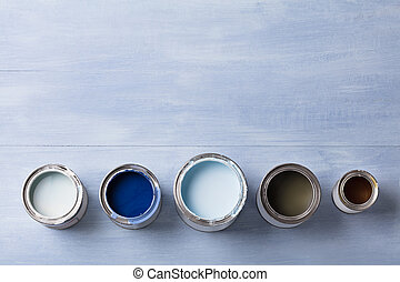 High Angle View Of Paint Can