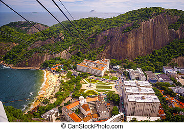 Urca - High angle view of Urca neighborhood from Sugarloaf...