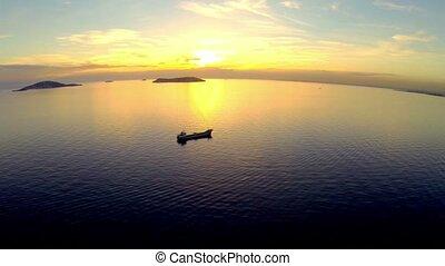 High angle view over Marmara Sea