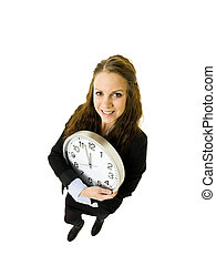 Woman with a clock