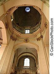 arch in the beautiful Catholic church