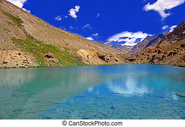 High-Attitude Lake in the Himalaya Mountains, India