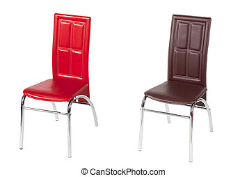 High backrest dining chairs - Two contemporary high backrest...