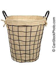 High basket on white