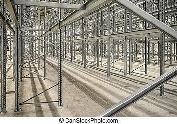 high bay steel shelf - new building lot of high bay stock...