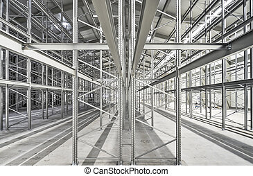 High bay stock with metal regales - new building lot of high...