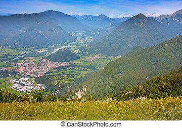 High beautiful Mountains, taken in Julian Alps, Slovenia