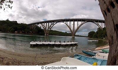 High bridge over river