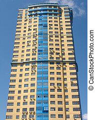 High building on blue sky