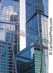 buildings of modern business center - high buildings of ...