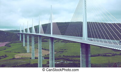 High Cable-Stayed Bridge - Huge Cable-Stayed Bridge -...