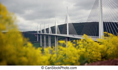 High Cable-Stayed Bridge - Time-Lapse Of The Cable-Stayed...