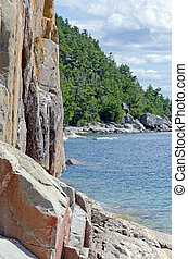 Superior Lake - High cliff on the shore of Superior Lake