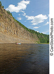 High cliffs on the river