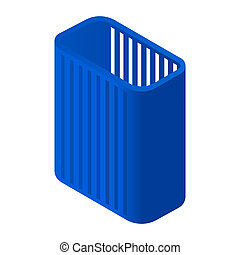 High clothes basket icon, isometric style