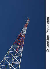 high communication antena under blue sky