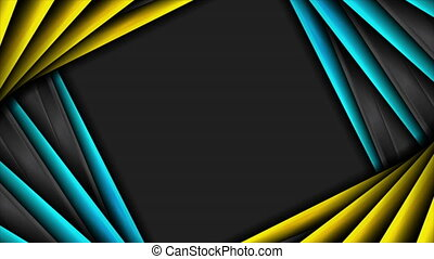 High contrast abstract tech corporate motion background - ...
