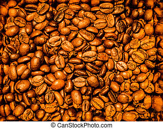 High contrast coffee beans