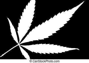 High Contrast Weed Leaf - A high contrast weed leaf designed...
