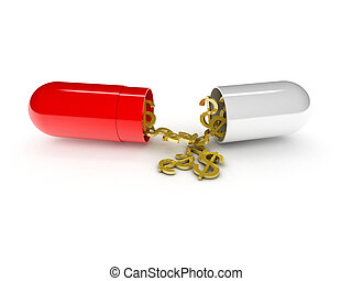 high costs of expensive medication concept