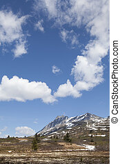High Country in Spring - High elevation mountains of British...