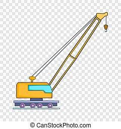 High crane icon, flat style