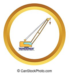 High crane vector icon