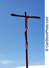 High-Cross in Sanctuary of Fatima, Portugal.