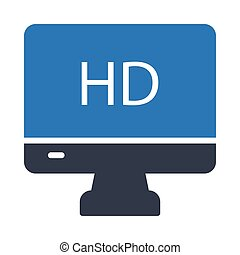 high definition glyph color vector icon