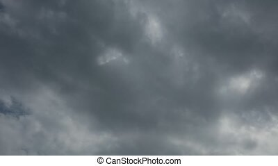 High Definition Time Lapse Cloudy Blue Skies Movie Clip -...