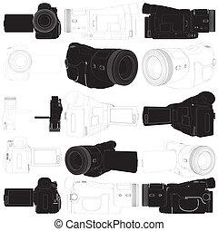 High-Definition Video Camera Vector