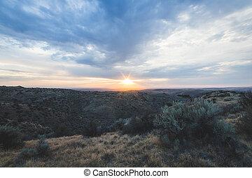High Desert at Sunset