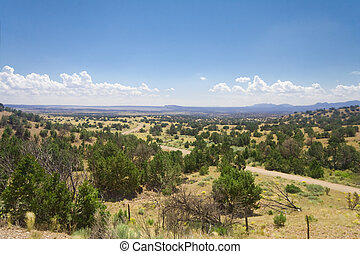 High Desert South of Santa Fe, New Mexico Wide Angle lens....