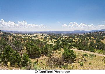 High Desert South of Santa Fe, New Mexico Wide Angle lens....