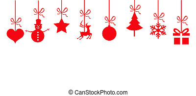 High detail christmas icons vector