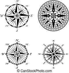 High Detail Compass Rose Set