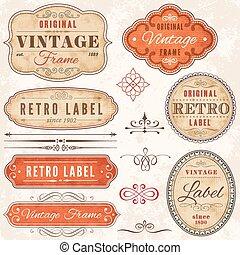High Detail Grunge Vintage Labels