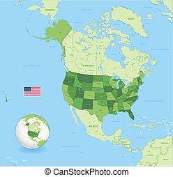 High Detail USA Green Map