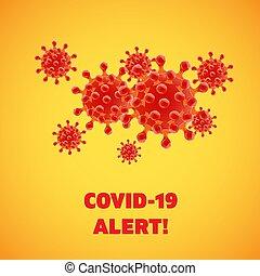High detailed abstract red coronavirus vector illustration
