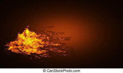 high detailed alpha mated fire
