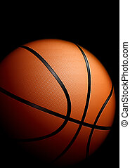 High detailed basketball. Illustration on black background